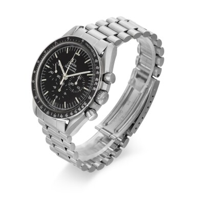 View 2. Thumbnail of Lot 706. REFERENCE ST 145.022, SPEEDMASTER STAINLESS STEEL CHRONOGRAPH WRISTWATCH CIRCA 1983.
