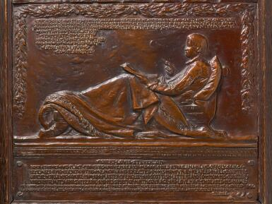 AUGUSTUS SAINT-GAUDENS | RELIEF WITH ROBERT LOUIS STEVENSON (FOR HIS MEMORIAL IN SAINT GILES CATHEDRAL)