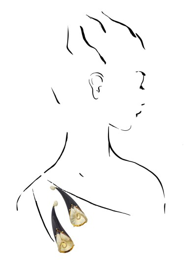 View 4. Thumbnail of Lot 31. MICHELE DELLA VALLE   PAIR OF CITRINE AND DIAMOND BROOCHES.