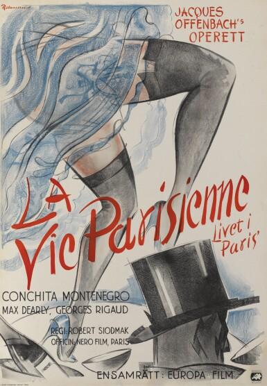 La Vie Parisienne (1936) poster, Swedish