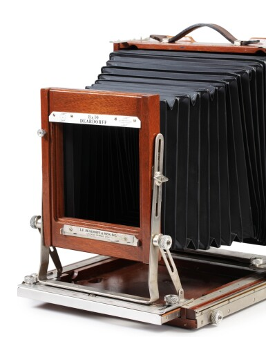 View 2. Thumbnail of Lot 9. Large format Studio Camera of Paolo Roversi, L.F. Deardroff & Sons Wood Field.