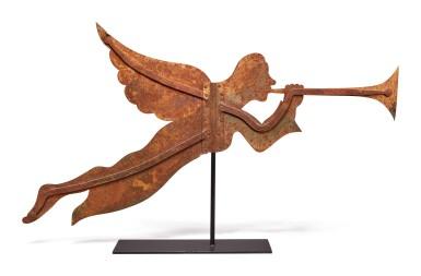 Sheet Metal Archangel Gabriel Weathervane, late 19th Century