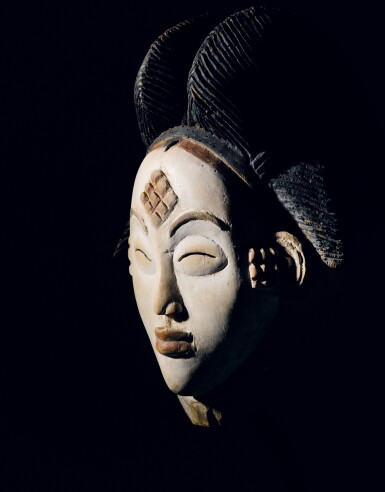 View 5. Thumbnail of Lot 41. Masque, Punu, Gabon | Punu mukuya mask.