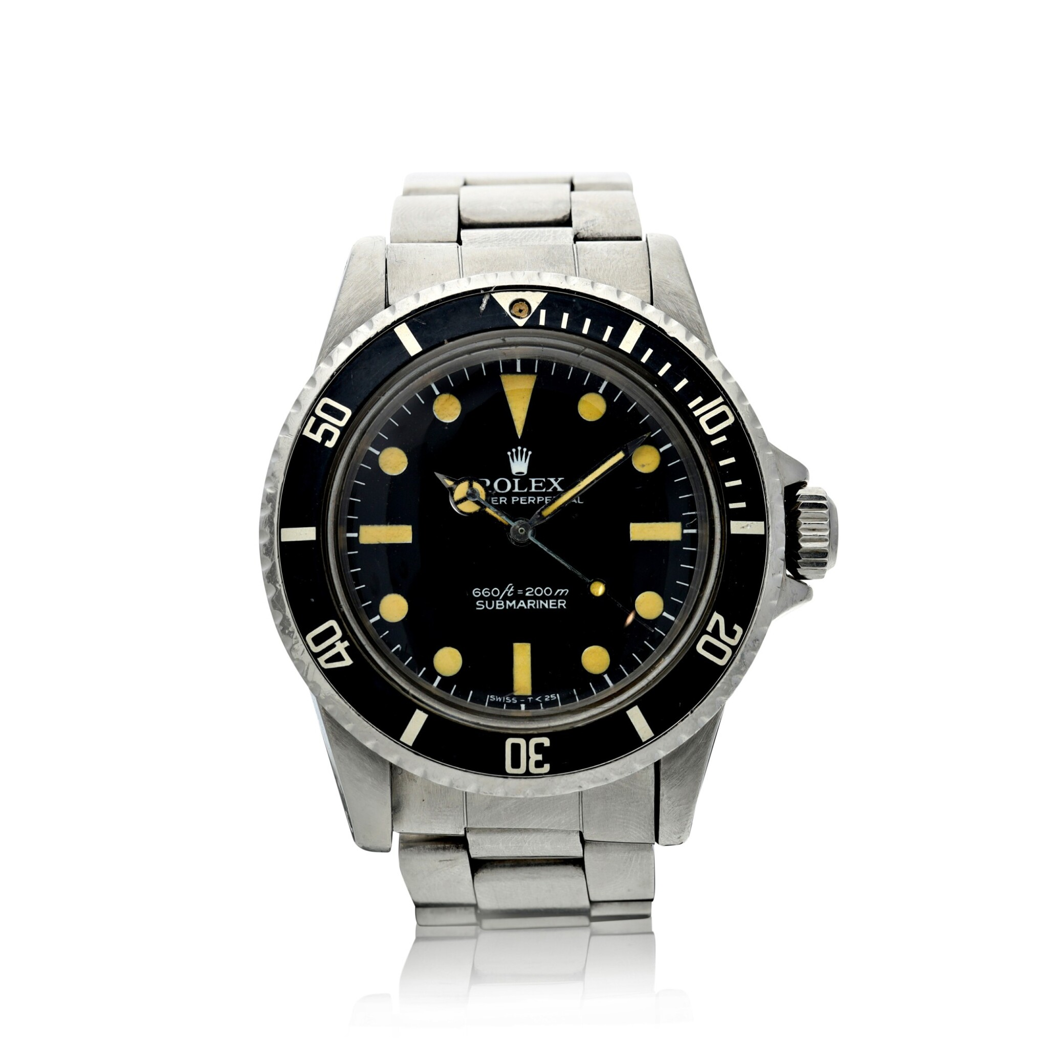 View full screen - View 1 of Lot 286. REFERENCE 5513 SUBMARINER A STAINLESS STEEL AUTOMATIC WRISTWATCH WITH BRACELET, CIRCA 1977.