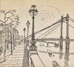 EDWARD BAWDEN, R.A. | ALBERT BRIDGE; KEW GARDENS