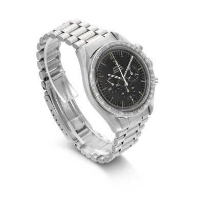 View 3. Thumbnail of Lot 203. 'ORIGINAL MOONWATCH' SPEEDMASTER REFERENCE 105'012-66   STAINLESS STEEL CHRONOGRAPH WRISTWATCH WITH REGISTERS, CIRCA 1966 .