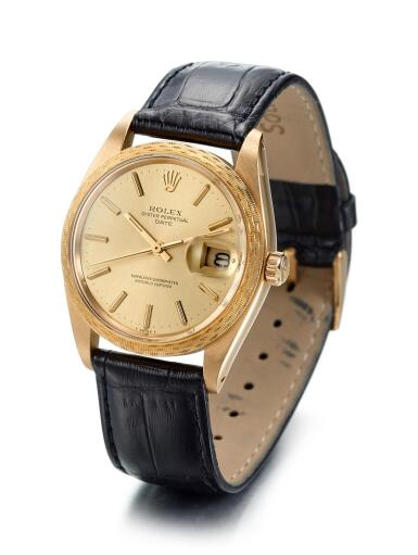 View 2. Thumbnail of Lot 8052. ROLEX   DATE, REFERENCE 1514, A YELLOW GOLD WRISTWATCH WITH DATE, CIRCA 1948.