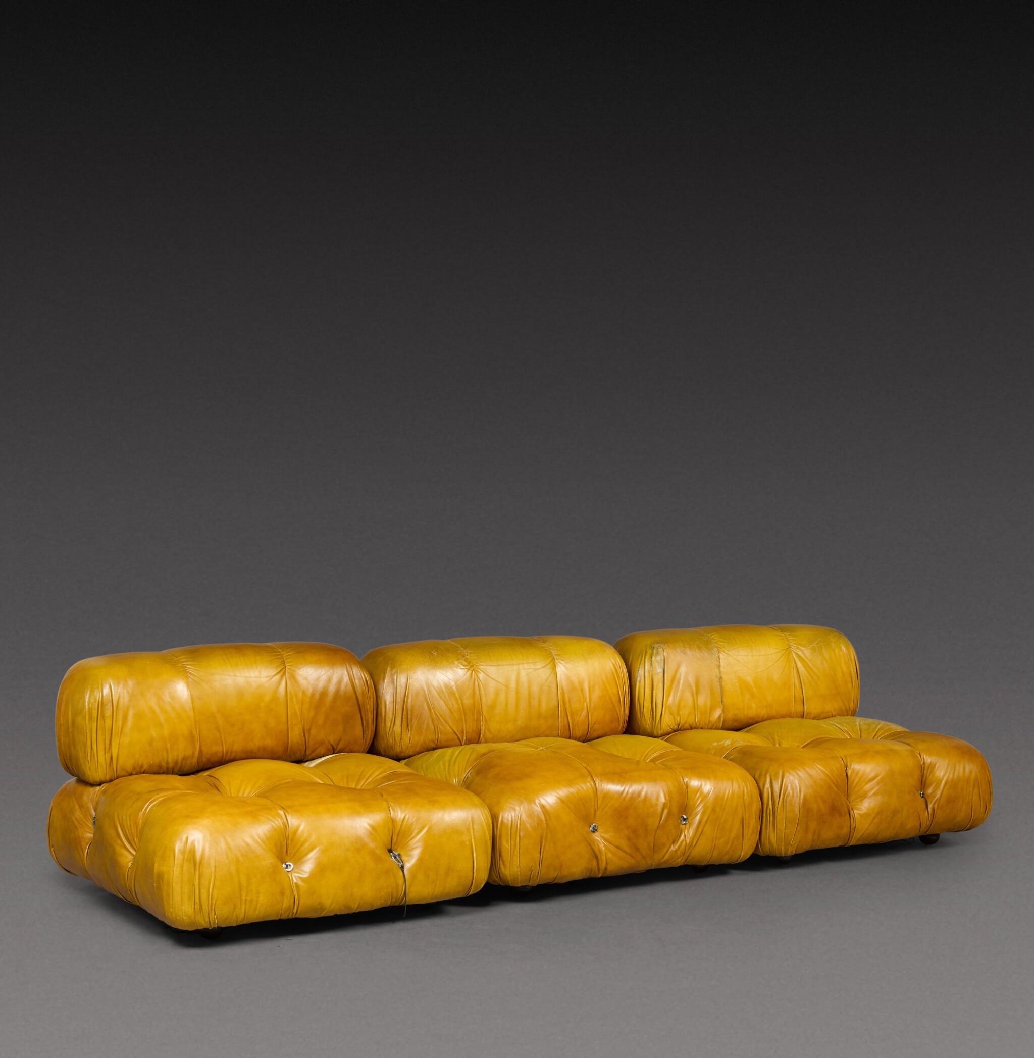 View 1 of Lot 185. Three piece Camaleonda sofa.