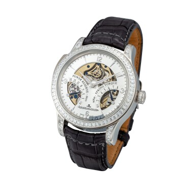 View 2. Thumbnail of Lot 23. Master Minute Repeater, Ref. 151.6.67.S Platinum and diamond-set minute repeating semi-skeletonized wristwatch with power reserve and torque indication Circa 2010 | 積家151.6.67.S型號「Master Minute Repeater」鉑金鑲鑽石三問半鏤空腕錶備動力儲存及扭矩力顯示,年份約2010.