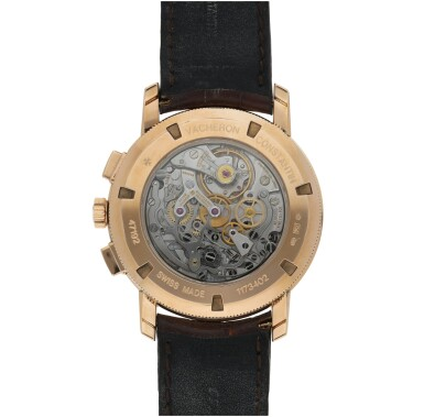 View 4. Thumbnail of Lot 181. REFERENCE 47192 TRADITIONNELLE A PINK GOLD CHRONOGRAPH WRISTWATCH WITH REGISTERS, CIRCA 2009.