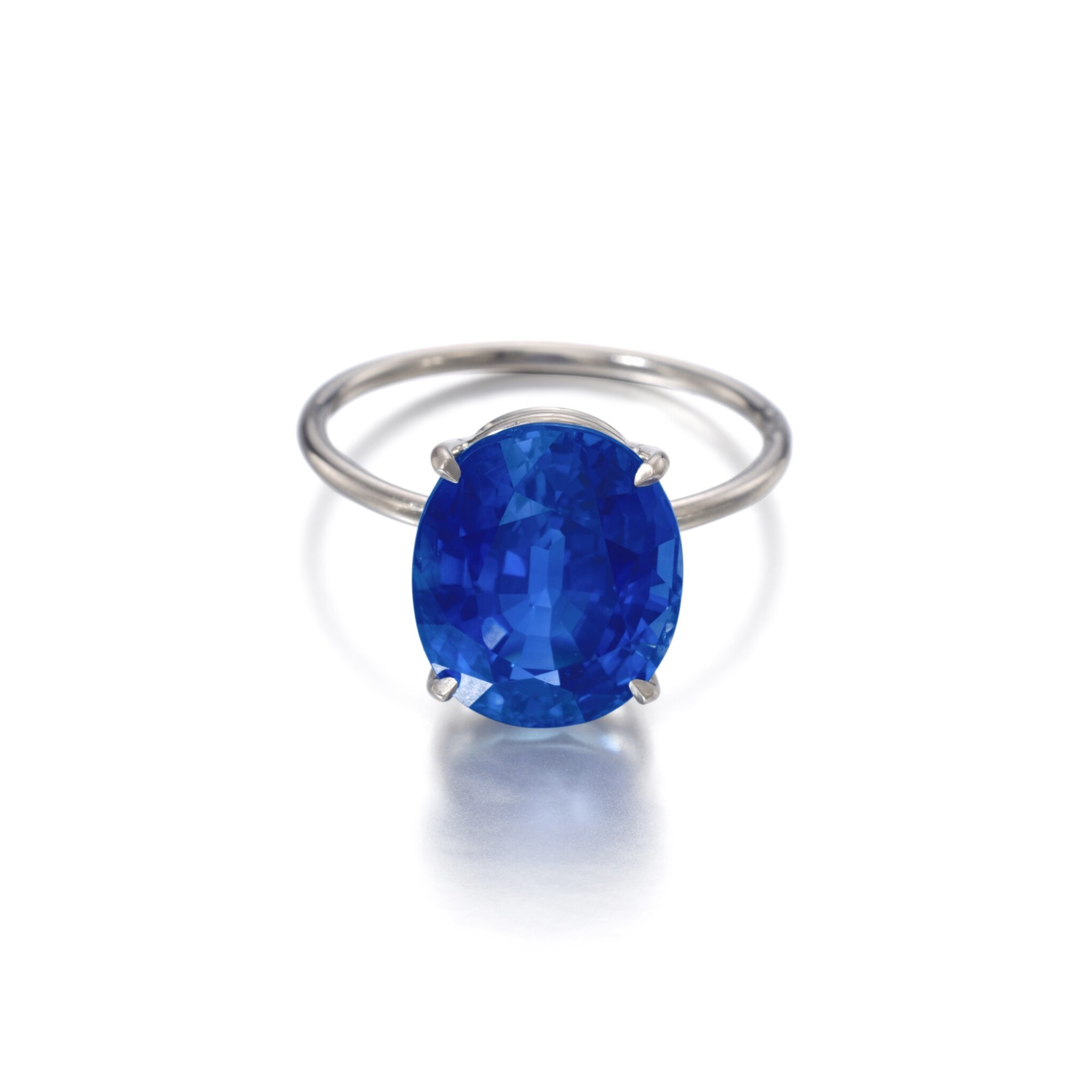 View full screen - View 1 of Lot 1145. Sapphire ring.