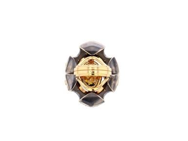 View 7. Thumbnail of Lot 5. Elie Top, Yellow Sapphire, Garnet and Diamond Ring [Bague Diamants, Grenat Mandarine et Saphirs Jaunes], 'Feu D'été'.