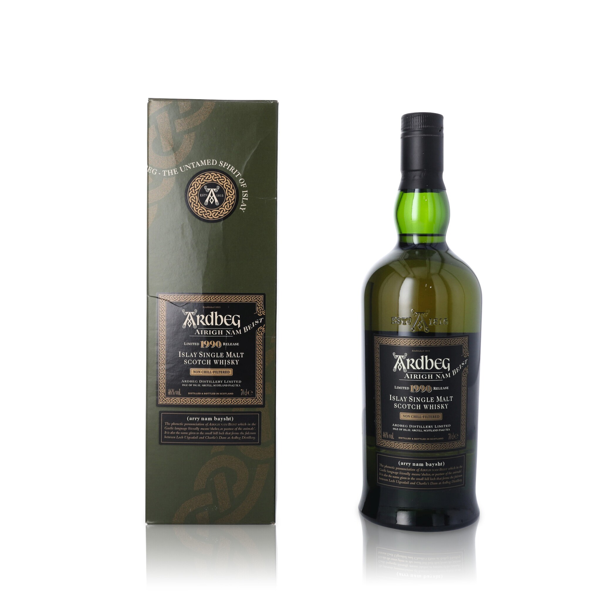 View full screen - View 1 of Lot 64. Ardbeg Airigh Nam Beist 46.0 abv 1990 (1 BT70).