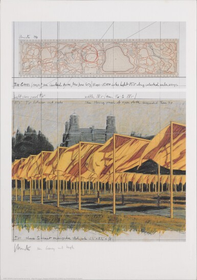 View 4. Thumbnail of Lot 34. The Gates, Project for Central Park, New York City: 5 Prints.