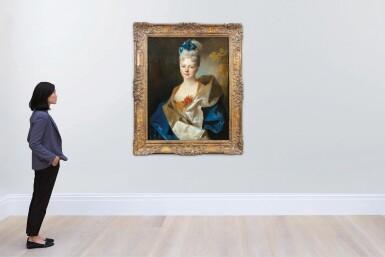 View 5. Thumbnail of Lot 45. Presumed portrait of the Countess Elisabeth de Saint-Périer (1701-1777).
