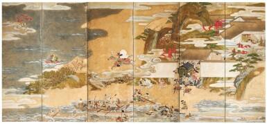 ANONYMOUS, EDO PERIOD, 17TH CENTURY | THE BATTLE OF YASHIMA AND ICHINOTANI