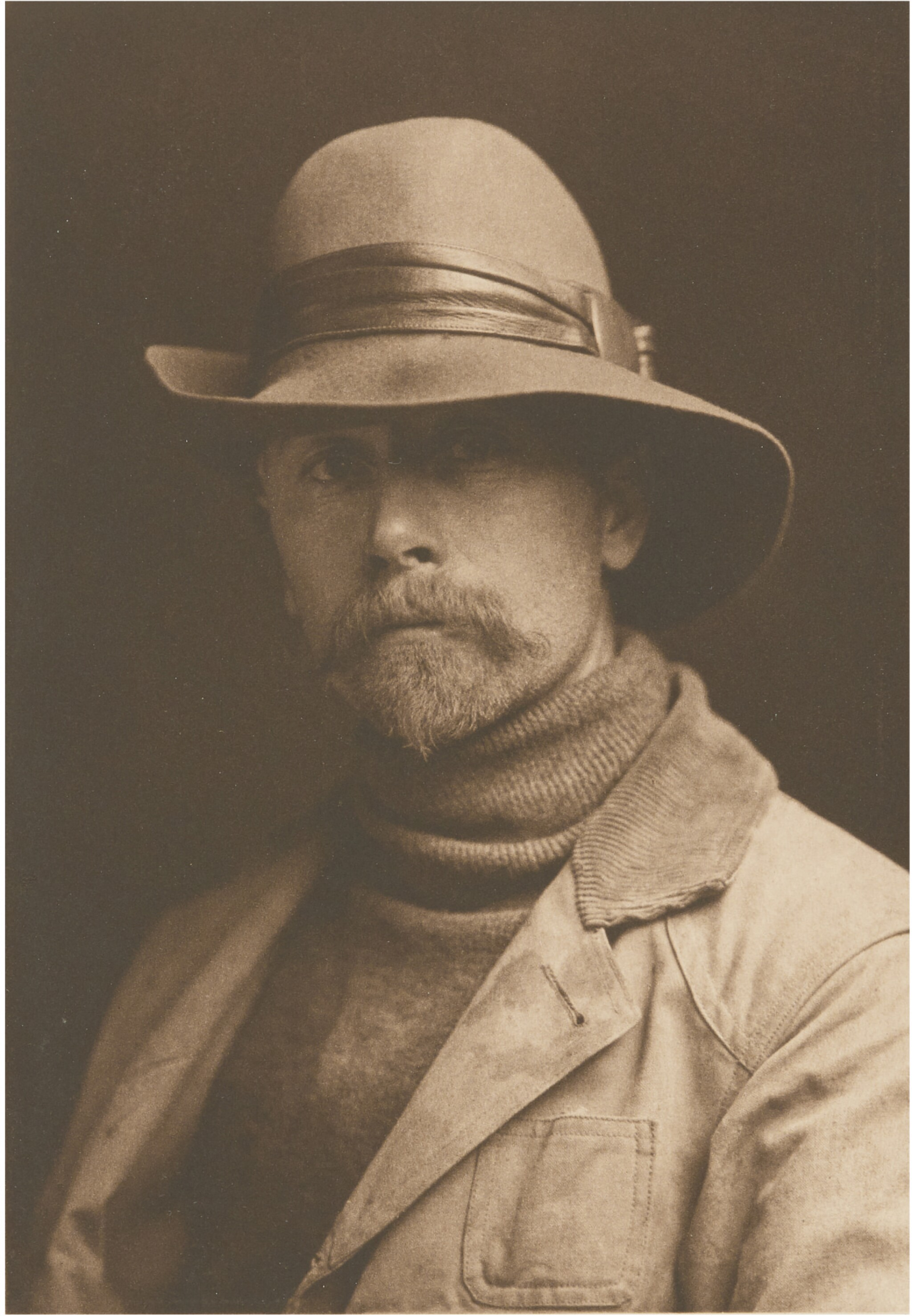 View full screen - View 1 of Lot 57. EDWARD S. CURTIS   SELF-PORTRAIT.