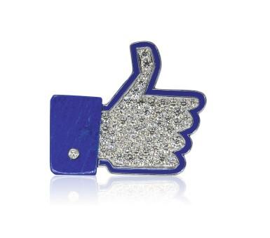 Lapis lazuli, enamel and diamond brooch, 'I Like', Michele della Valle