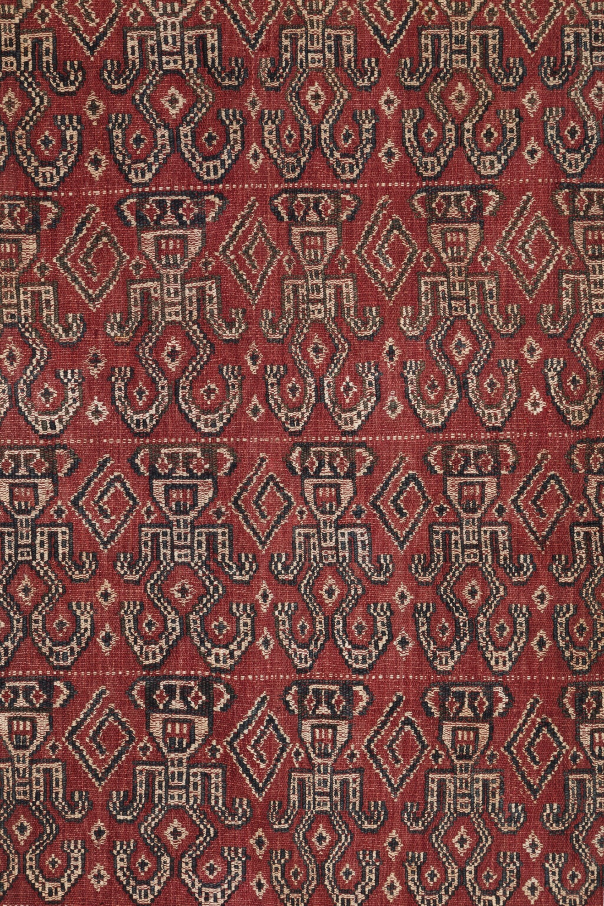 View full screen - View 1 of Lot 38. Tissu cérémoniel pua, Iban, Bornéo, Indonésie, début du 20e siècle | Ceremonial cloth pua, Iban, Borneo, Indonesia, early 20th century.