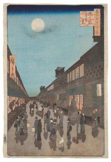 UTAGAWA HIROSHIGE I (1797–1858), EDO PERIOD, 19TH CENTURY   FOUR PRINTS FROM THE SERIES ONE HUNDRED FAMOUS VIEWS OF EDO (MEISHO EDO HYAKKEI)