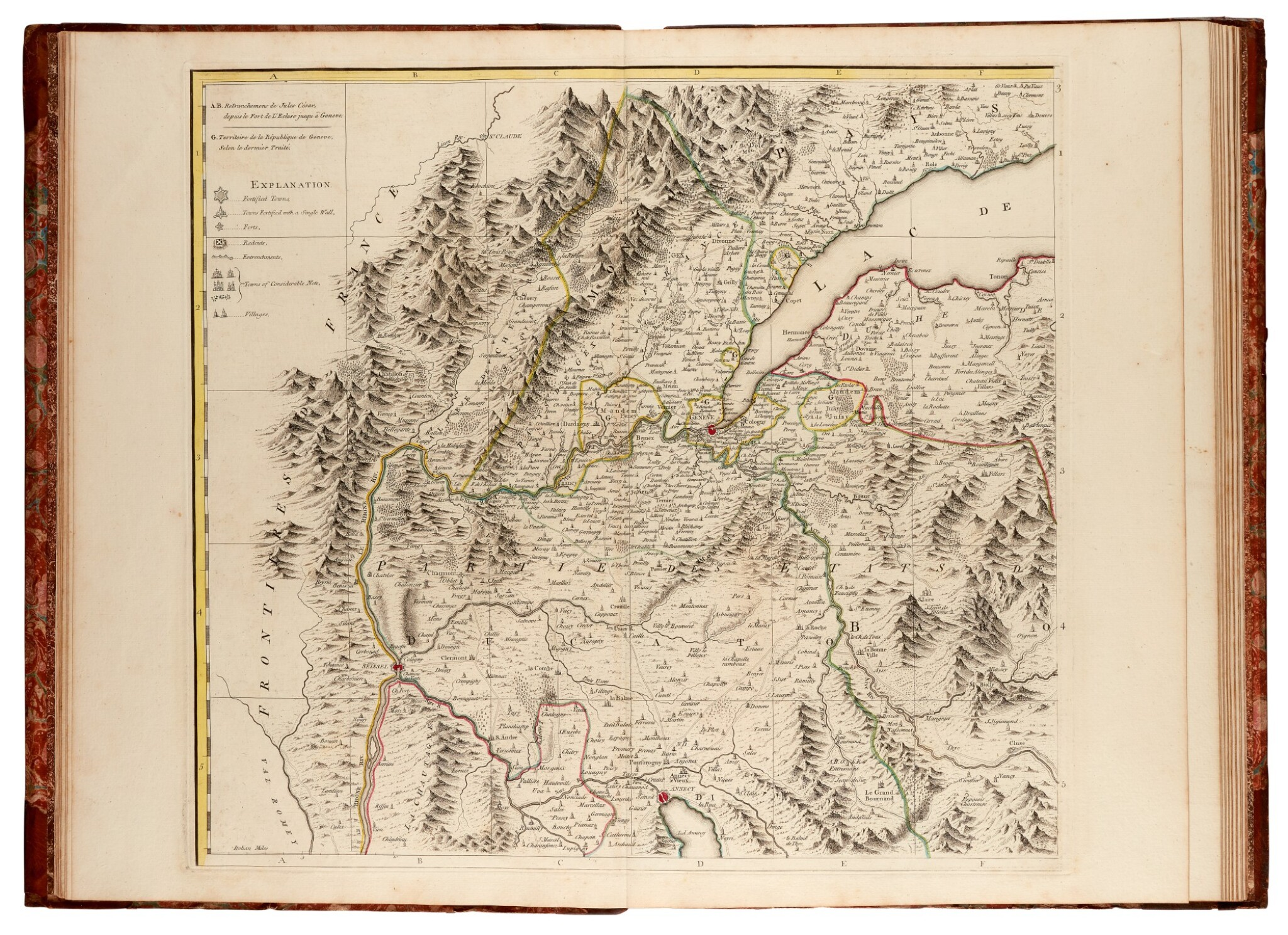View full screen - View 1 of Lot 27. DURY   A chorographical map of the King of Sardinia's dominions, 1765.