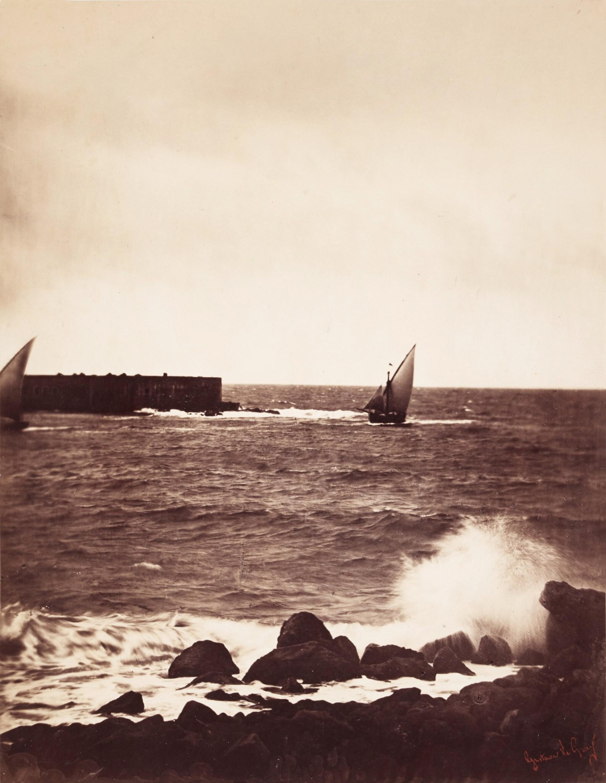 View full screen - View 1 of Lot 26. 'La Vague Brisée, Mer Méditeranée No 15', (The Breaking Wave), 1857.