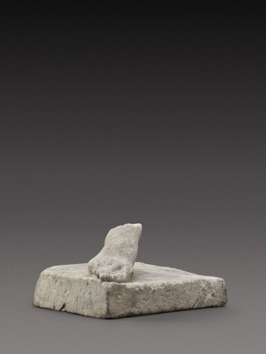 View 3. Thumbnail of Lot 106. A Roman Marble Right Foot, circa 2nd Century A.D..