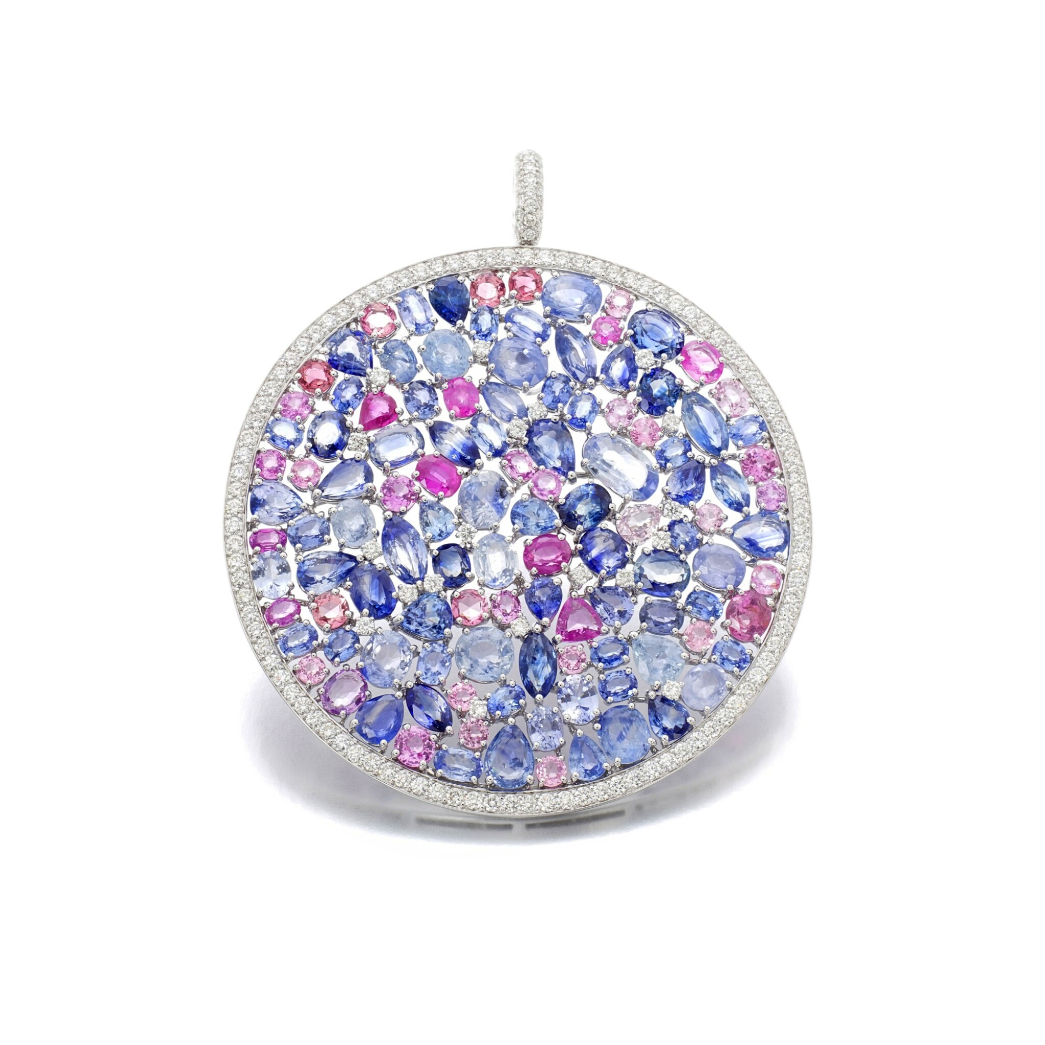 View full screen - View 1 of Lot 43. MICHELE DELLA VALLE | GEM SET AND DIAMOND PENDANT.