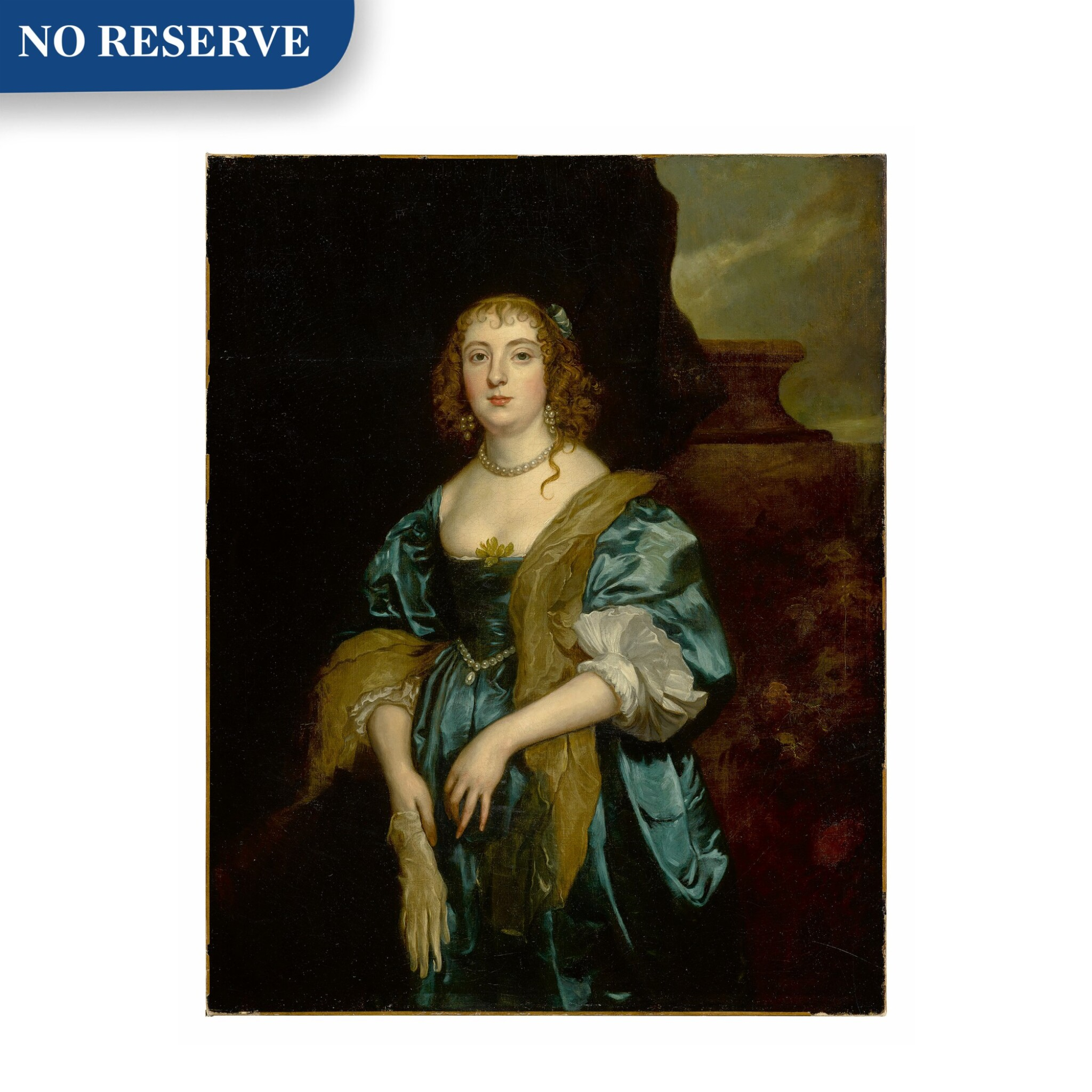 View full screen - View 1 of Lot 31. Portrait of Anne Russell (née Carr), Countess of Bedford (1615 - 1684), three-quarter length.