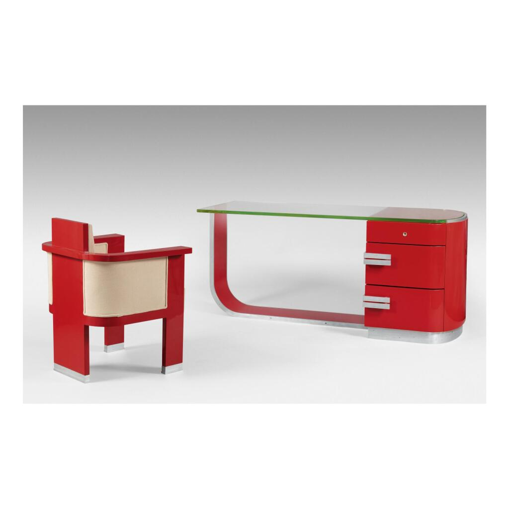 ANDRÉ SORNAY | DESK AND ARMCHAIR