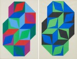 VICTOR VASARELY | UNTITLED (TWO WORKS)