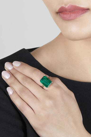 View 3. Thumbnail of Lot 101. Tiffany & Co. | An Exquisite Emerald Ring.