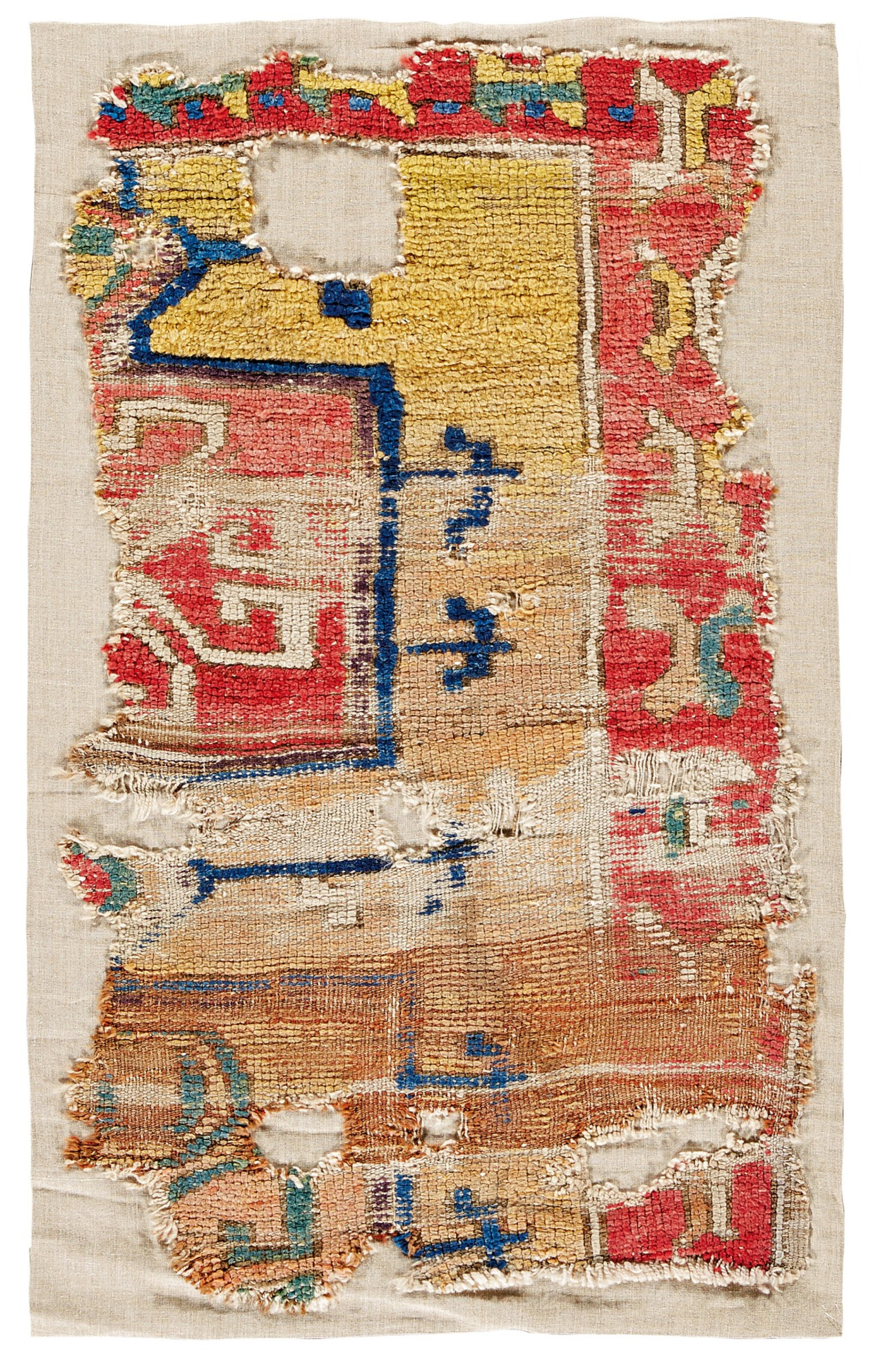 View full screen - View 1 of Lot 142. West Anatolian carpet fragment, possibly 16th Century.