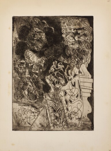 PABLO PICASSO   REMBRANDT À LA PALETTE (B. 208; BA. 406)