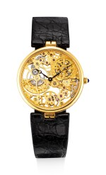 PATEK PHILIPPE   REFERENCE 3878   A YELLOW GOLD SKELETONIZED WRISTWATCH, CIRCA 1994   百達翡麗   型號3878   黃金鏤空腕錶,約1994年製