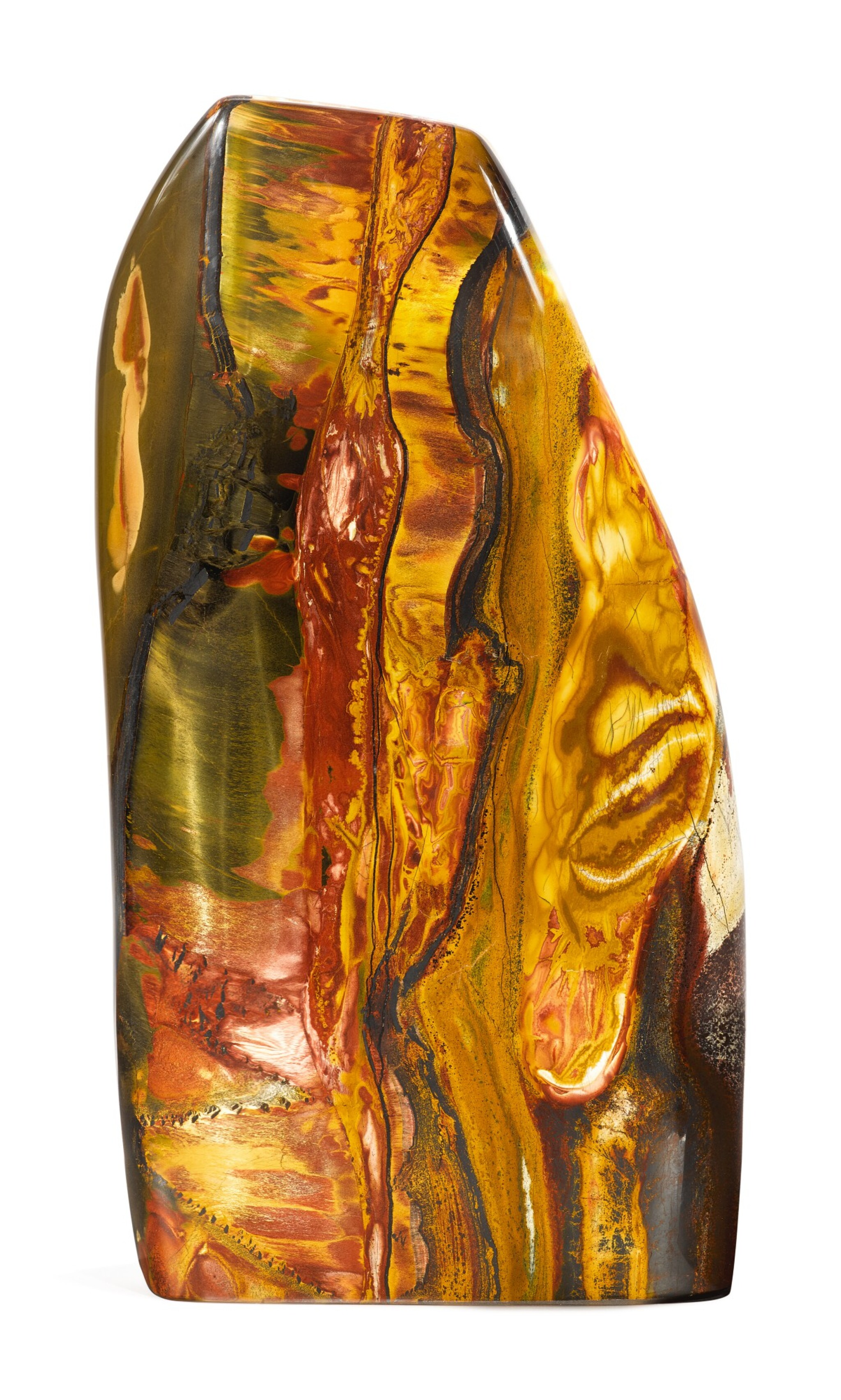 NATURAL TIGER'S EYE FREE FORM SCULPTURE
