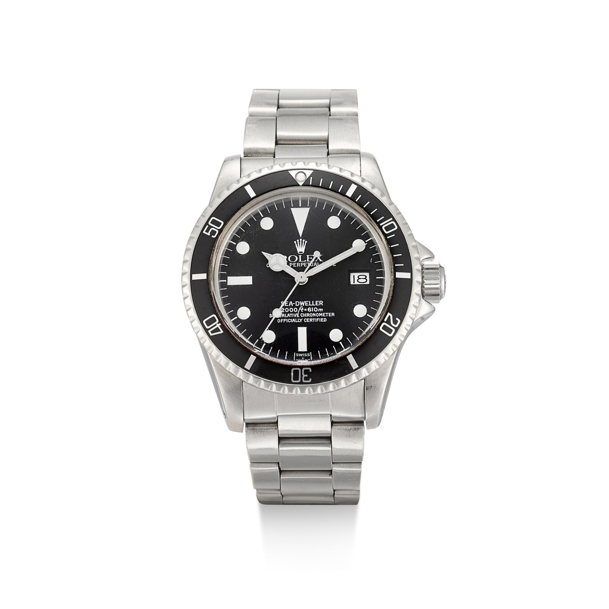 View full screen - View 1 of Lot 1102. ROLEX | SEA-DWELLER, REFERENCE 1665, A STAINLESS STEEL WRISTWATCH WITH DATE, SERVICE DIAL AND BRACELET, CIRCA 1978.