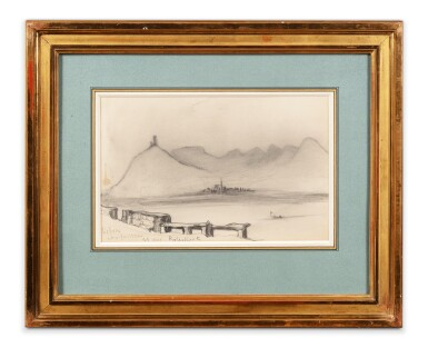 View 2. Thumbnail of Lot 201. A view of the Rhine in Rolandseck.