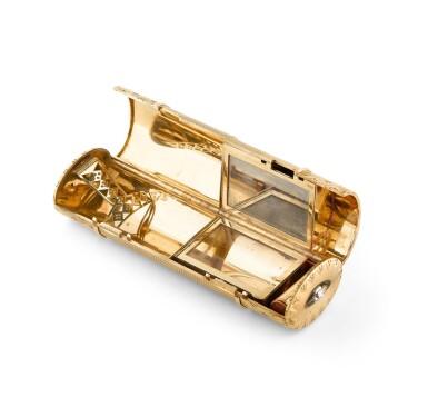 View 3. Thumbnail of Lot 53. CARTIER | NÉCESSAIRE DE BEAUTÉ OR ET DIAMANTS, DESSINÉ PAR RUPERT EMMERSON | GOLD AND DIAMOND VANITY CASE, DESIGNED BY RUPERT EMMERSON.