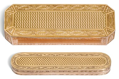 TWO GOLD TOOTHPICK CASES