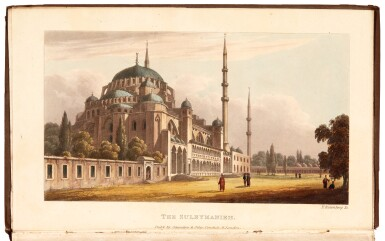View 1. Thumbnail of Lot 208. Temple | Travels in Greece and Turkey, 1836, 2 volumes.
