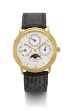 AUDEMARS PIGUET | REFERENCE BA5548  YELLOW GOLD PERPETUAL CALENDAR WRISTWATCH WITH MOON PHASES  CIRCA 1981
