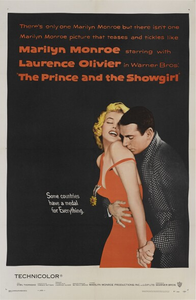 The Prince and the Showgirl (1957) poster, US