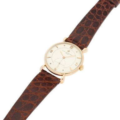 View 6. Thumbnail of Lot 291. REFERENCE 4299 A PINK GOLD WRISTWATCH, CIRCA 1955.