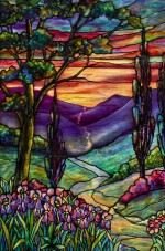 "TIFFANY STUDIOS | ""RIVER OF LIFE"" WINDOW"