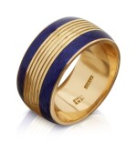 GOLD AND ENAMEL RING, CARTIER