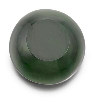 View 4. Thumbnail of Lot 49. A Fabergé two colour gold-mounted nephrite bowl, workmaster Michael Perchin, St Petersburg, 1899-1903.
