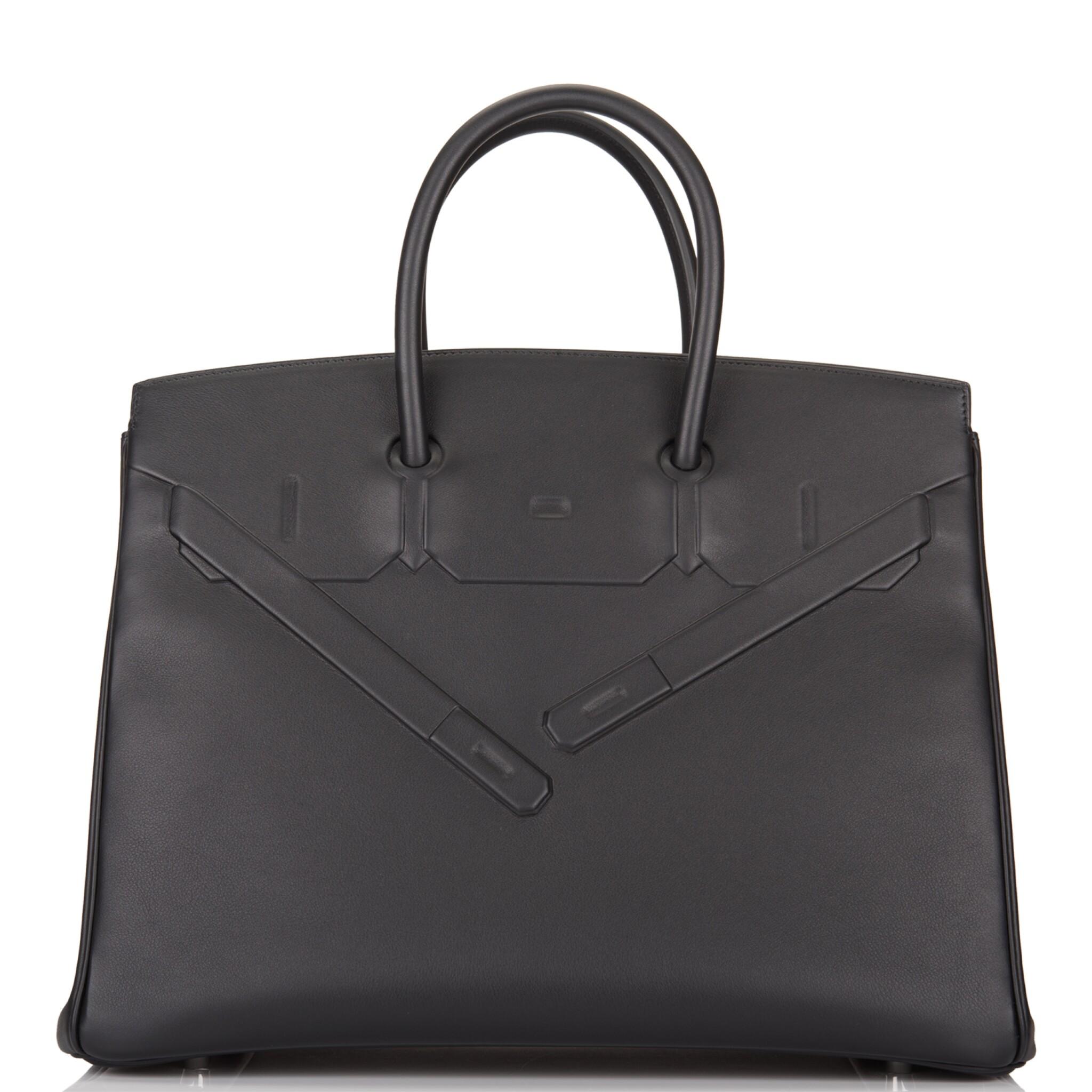 View 1 of Lot 32. Hermès Black Shadow Birkin 35cm of Swift Leather.