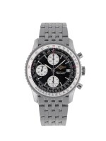 BREITLING | NAVITIMER, REF A13322 STAINLESS STEEL CHRONOGRAPH WRISTWATCH WITH DATE AND BRACELET CIRCA 2001
