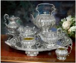 A GEORGE IV SILVER SIX-PIECE TEA AND COFFEE SERVICE, ROBERT GARRARD, LONDON, 1822-28